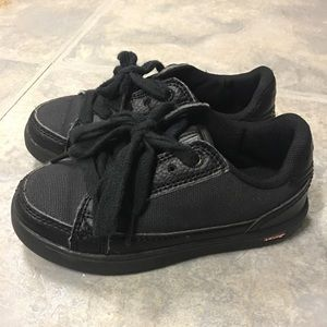 Boys Black Levi's Sneakers Size 9